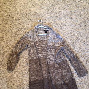 Sweaters - Brown ombré sweater coat